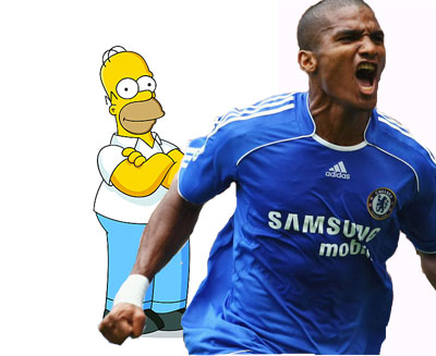 Some comedy characters - including Florent Malouda