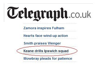 Keane drills Ipswich squad